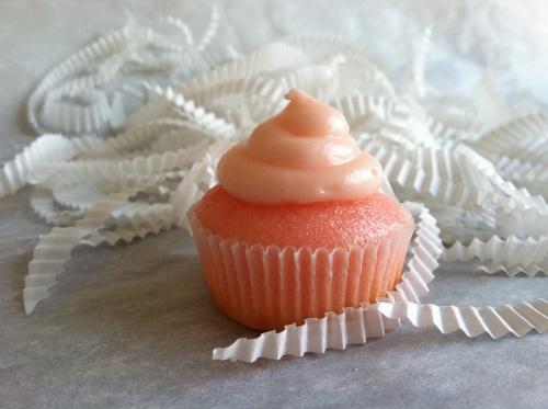 pink grapefruit cupcake