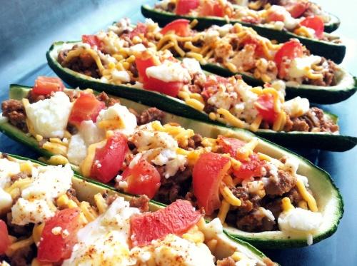 stuffed zucchinni